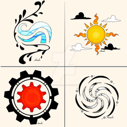 Homestuck Aspect Temporary Tattoo Designs by Explosion245