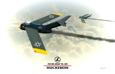 Focke Wulf Ta-183 Huckebein WW2 German Jet by Spirit-Knight