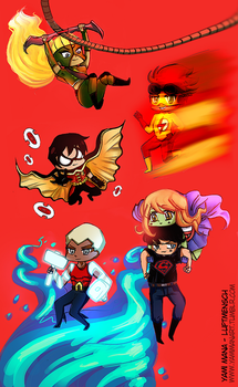Chibi Young Justice by YamiMana