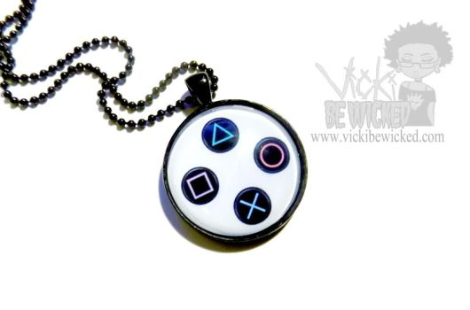 Game Controller necklace by VickiBeWicked