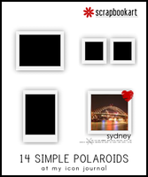 Simple Polaroid Set 01 by scrapbookart