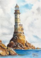 World Watercolor Month - Day 4 (Lighthouse) by Harmony1965