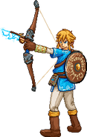 Link (Breath of the Wild) PixelArt by Lisnovski