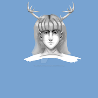 Painting Study - Horned God by tragicallyhipster