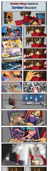 Strider Hiryu reacts to Strider Boxart by punkbot08