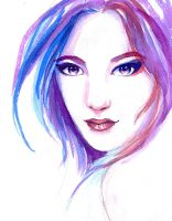 Copy of watercolor woman by Daina-Lockie