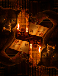 Werewolf Bookmarks for print by Viergacht