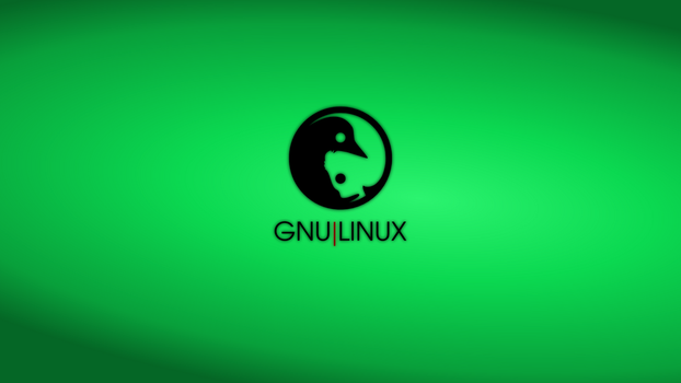 GNULinux YinYang Wallpaper | Malachite by Dablim