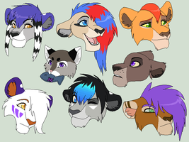 Main Character HeadShots by Kainaa