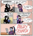Tech Support Sombra by electricbunnycomics