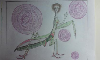 Mia, the Mantis Queen by SaykRedWitch13