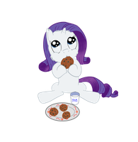 Fluffy Rarity: cookies and milk for breakfast by SchnabsiX