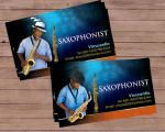 saxophonist bcard by owdesigns