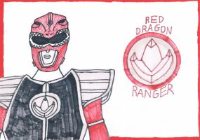 Red Dragon Ranger [Power Rangers concept] by DoctorWhoOne