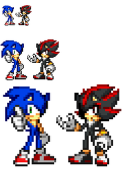 Sonic and Shadow Style Test by TechM8