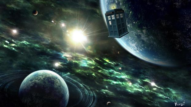 Tardis in Space_Final Render by RedTigger