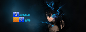 Black Rock Shooter Header by mnbvcxzasdfghjklpoiu