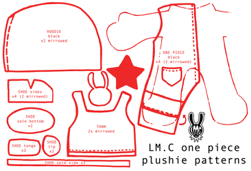 LMC plushies 'one piece + tank' pattern by JoshikoseiSnak