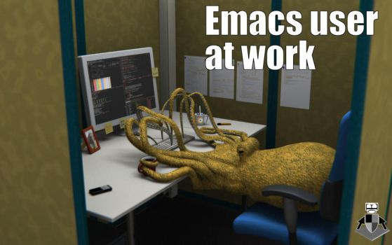 emacs user at work by EarlColour
