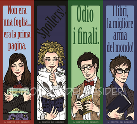 Doctor Who Bookmarks by IlMostroDeiDesideri