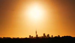 Sun is setting on the city by Futz5