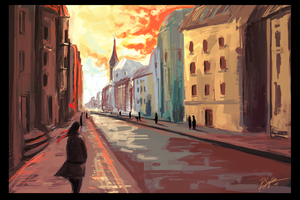 City Impression Painting by psiipilehto