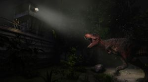 Tyrannosaur in darkness by Ikechi1