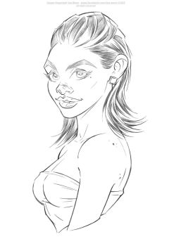 Roberta - Pencils by Jon-Moss