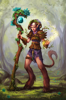 Psychara, Protector of the Woods by snowicewater