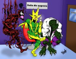 Carnage Electro and Lizard by GhostDarkSide