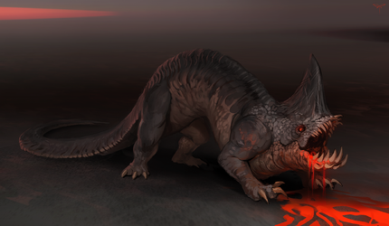 Lava Eater Creature by telthona