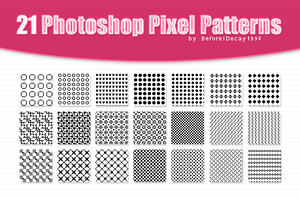 21 pixel patterns by BeforeIDecay1996