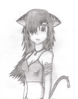 anime cat girl by whateverjulie