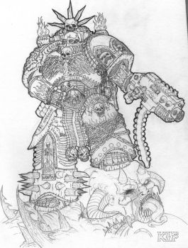 Legion Of the Damned Space Marine by KnightInFlames