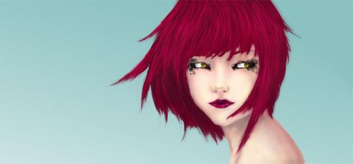 Fille au cheveux rouge by dyzae