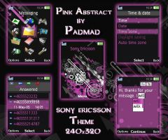 Pink Abstract - 240x320 theme by padmad