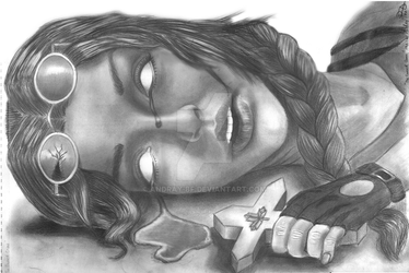 Lara Croft and the Cursed Cross Artwork by AndRay-BF