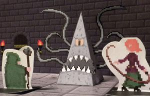Pixel Dungeon 3D monster preview: Rock Reaper by Zombie-Kawakami