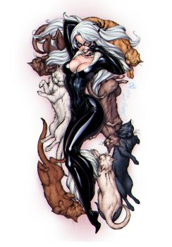 Black Cat by J Scott Cambell by artmunki