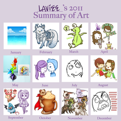 2011 summary of art by xLavenderKisses