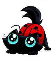 Funny cat adoptable ladybird colour commisssion by KingZoidLord