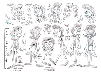 July model sheet by Granitoons