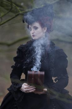 Stock - Gothic baroque magic smoke lady by S-T-A-R-gazer