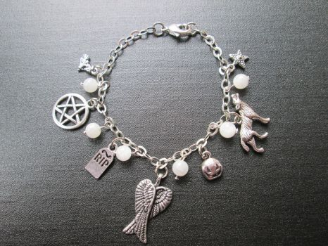 Supernatural Wiccan Occult Gothic Charm Bracelet by Cre8tivedesignz