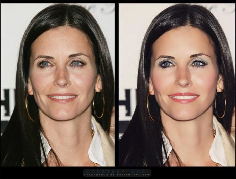 Retouch: Courtney Cox by StrangeClaire