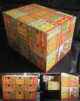 Decoupage: chest of toys by M-i-n-e-r-v-a