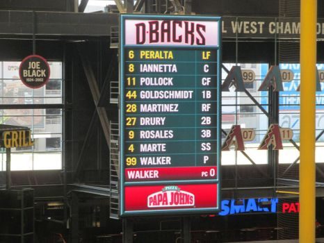 D-backs Lineup on Players Weekend by BigMac1212