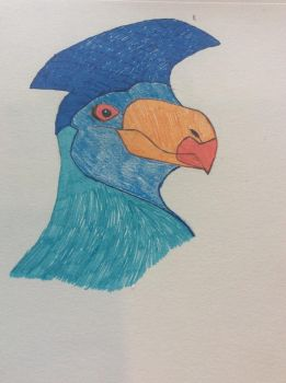 Great Blue Turaco by Stitch1290