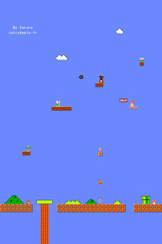 Mario iPhone Wallpaper old sch by Zetura