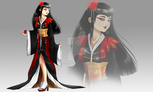 (closed)Auction Adopt  OC Japanese Empress by CherrysDesigns